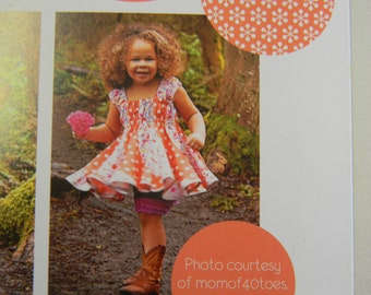 Pattern for Izzy & Ivy Designs Little Girl's Adorable Top or Dress Sizes 1-14 Beverly Belle