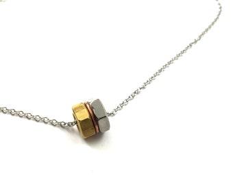 Choker Pendant Necklace Industrial Hardware Jewelry