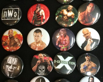 002 Wrestling Button, Pin, Badge