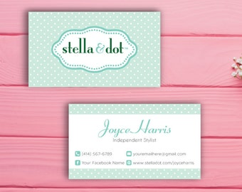 Stella and Dot Business Card, Custom Stella and Dot Business Card, Custom Stella and Dot, Printable Business Card SL02