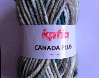 gros fil canada plus de KATIA coloris ton vert N°305