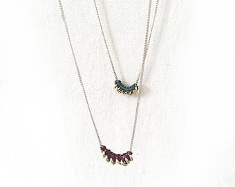 Macrame silver Necklace