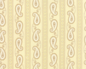 Moda POLKA-DOTS And PAISLEYS Quilt Fabric 1/2 Yard By Minick & Simpson - Cream 14803 12