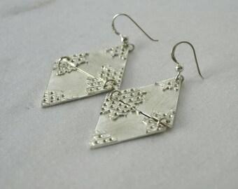 Earrings Silver Triangles