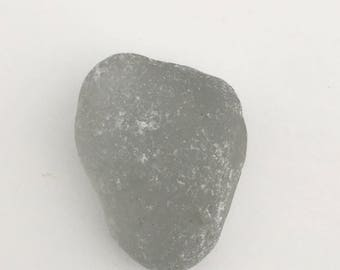 Genuine Sea Glass From Kauai Hawaii, Gray, Large, Surf Tumbled, Collector Beach Glass, Thick, Heavily Frosted