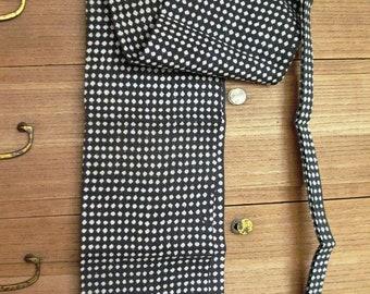 Fundoshi Japanese Traditional Underwear Loincloth made with Yukata Cotton; HANDMADE dot indigo dye