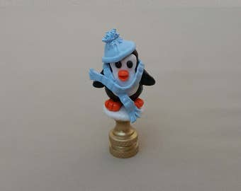 Penguin Lamp Finial...Custom made to order.