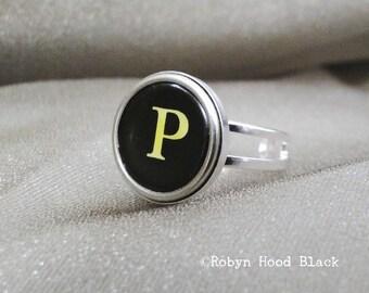 Schreibmaschine Schlüssel Jahrgang Buchstabe P Ring