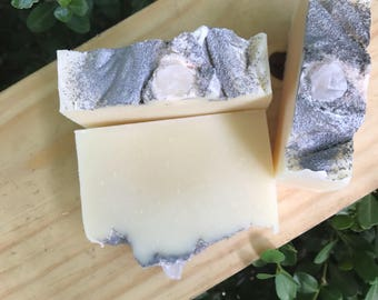 Geranium Rocks NATURAL - Cold Process Soap