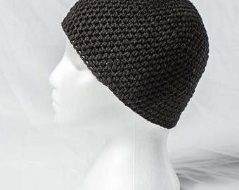 Hand-crafted Black Beanie