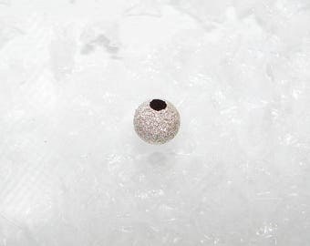 1 silver bead ball 6.0 mm. Sequined, silver bead first title. (6439879)