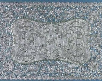 "Silver Lace Foil Paper Placemats Royal Lace, 9.75""x14.5"", 6/PK"