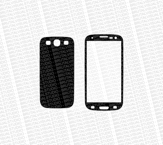 Samsung Galaxy S3 - Skin Cut File Template - Templates for cutting or machining - Digital Download - Plotter, CNC, Lasers - Svg Cdr Ai