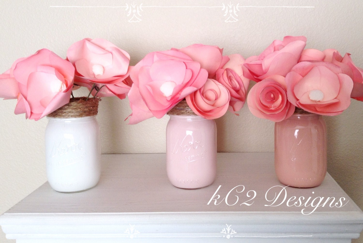 Paper flowers centerpieces table numbers summer wedding