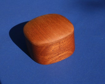 Mahogany Super Ellipsoid Shaped Box #4