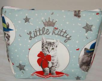 Women's Handmade Tote Bag Little Kitty Cat Tote Bag