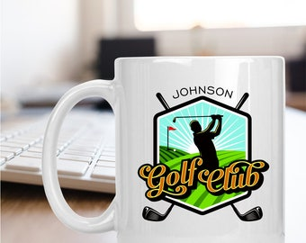 Personalized Golf Club Mug
