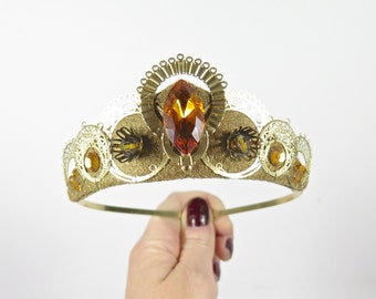 Amber Gemstone Tiara - by Loschy Designs