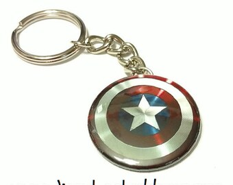 "Captain America Avengers Shield 1.5"" Keychain"