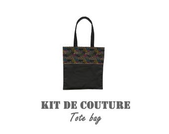 """Sewing Kit - Tote bag pattern """"multicolored tulips"""""""