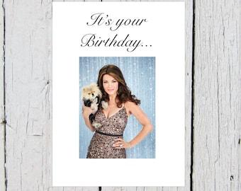 Lisa Vanderpump Birthday Card Giggy (Real Housewives of Beverly Hills, Pomeranian, Glamour, RHOBH, Vanderpump Rules, Bday, Hollywood)