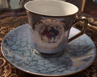 Gorgeous Tiny Teacup and Saucer set