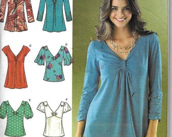 Simplicity 3624 Misses Knit & Woven Tops Sewing Pattern Plus Size 14, 16, 18, 20, 22