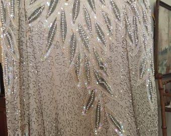 Oleg Cassini beaded gown