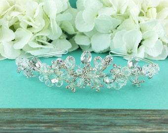 Swarovski Crystal Bridal tiara headpiece, wedding tiara, wedding headpiece, rhinestone tiara, crystal tiara, crystal accessories 286528321