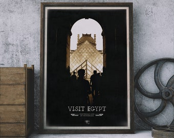 Visit Egypt – Archway/famous Sights poster Print