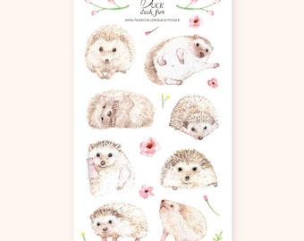 DUCK duck fun Hedgehog stickers