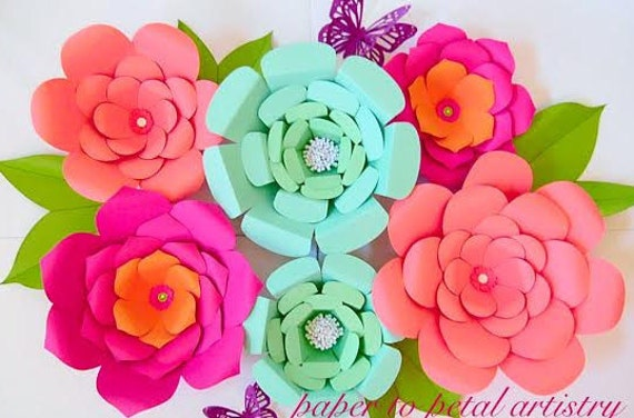 Diy easy large paper flowers flower templates patterns diy easy large paper flowers flower templates patterns backdrop flowers giant paper flowers mightylinksfo Choice Image