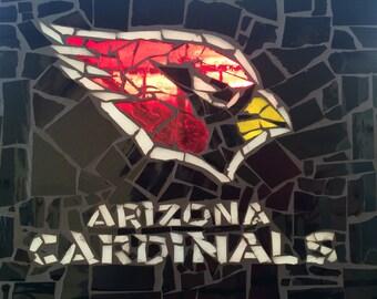 Arizona Cardinals Glass Mosaic