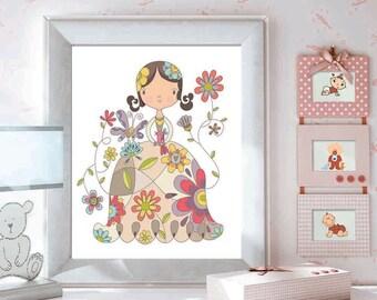 Nursery Wall Art, Girls room Decor, Baby Girl Nursery, Kids Decor, Kids Wall Art, Nursery Decor, Nursery Wall Art, Mother Nature
