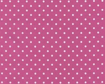 Timeless Treasures Polka Dot Basic - Pink  - 1/2 Yard