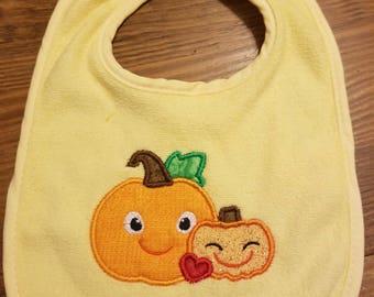 Halloween Pumpkin Bib