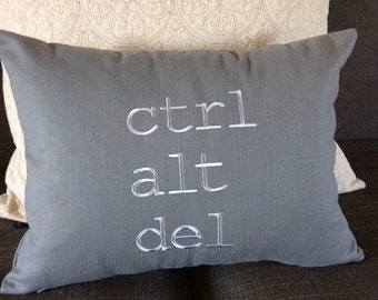 Decorative pillow cover-Ctrl, Alt, Delete- throw cushion, home decor pillow, computer nut