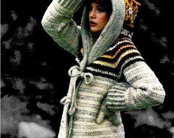 Crochet Pattern, Crochet Jacket Pattern, Crochet Hooded Jacket Pattern, Crochet PDF Pattern, Crochet Instant Download, Hooded Jacket Pattern