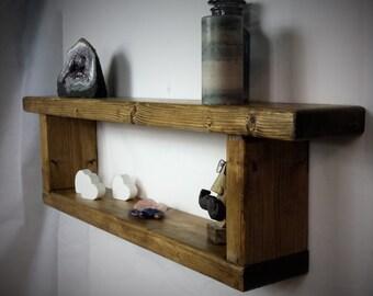 reclaimed wood shelf - wooden wall Shelf - Rustic Shelves - Double Shelf - Shelving - floating shelf - Wall Shelves  - Wood Shelf
