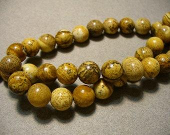 Picture Jasper Beads Gemstone Round 10MM