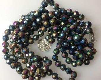 Antique Glass Beads Aurora Borealis