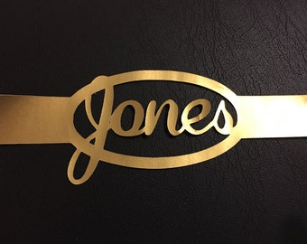 Gold Foil Name Belly Band