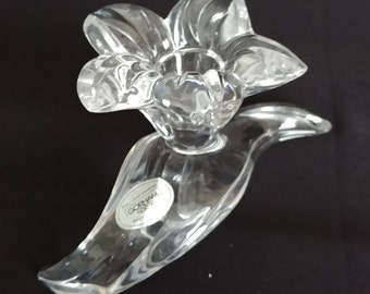 Lead Crystal Candleholder, Vintage Crystalites Collection, Lily Candleholder, by Gorham, #C359
