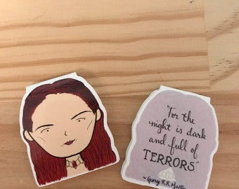 Melisandre Bookmark - Game of Thrones the Red Witch