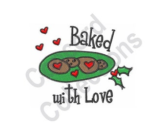 Baked With Love - Machine Embroidery Design, Cookies