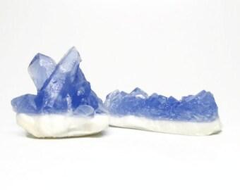 Tanzanite Quartz Crystal Soap Set - Choose your Scent