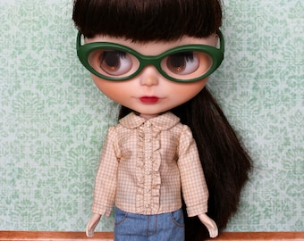 Blythe Top, Gingham Blouse with collar