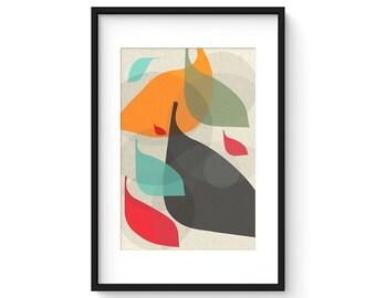 FLOW no.31 - Giclee Print - Mid Century Modern Danish Modern Style Minimalist Modernist Eames Abstract