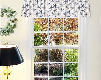 Valances and Window Treatments, Valance Curtains, Beach Cottage Decor, Tropical Valance, Large Valance, Extra Wide Curtains, Home and Living