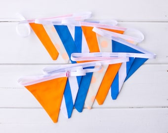 "Good Will Bunting ""Adventure"" Orange Blue Bunting"